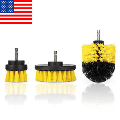 Set Of 3 Cleaning Drill Brush Wall Tile Grout Power Scrubber Tub Cleaner Combo
