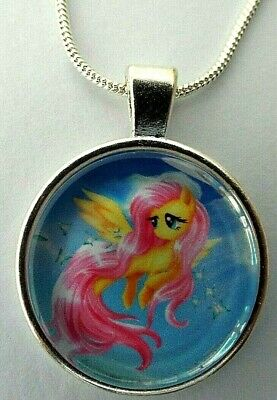 My Little Pony Flutter Shy Necklace 18 Inch 4-6 Year Gift Box Birthday Party