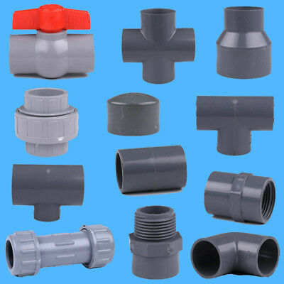 UPVC Pipe Fittings Joiner Connectors Tee Elbow Adapter For 32mm/50mm  OD Pipe