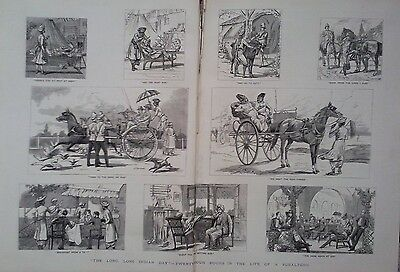 1882 Print Twenty Four Hours In The Life Of A Subaltern In India