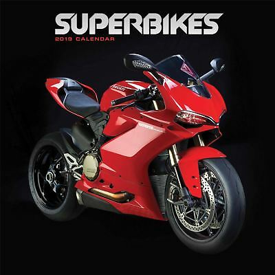 Superbikes Official 2019 Wall Calendar Wiro New & Sealed