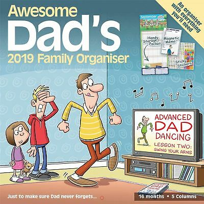 Awesome Dads Family Organiser Planner Official 2019 Wall Calendar New & Sealed