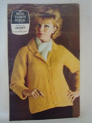 The Wool Fashion Bureau Ladies Jacket -  Knitting Pattern