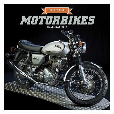 British Motorbikes Official 2019 Wall Calendar New & Sealed