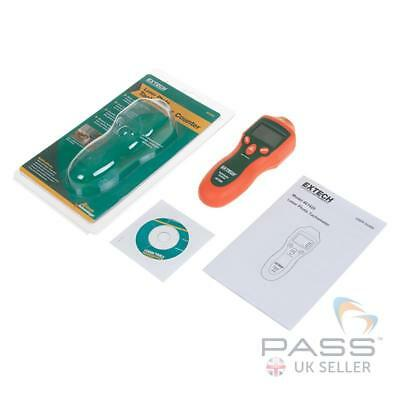 NEW Extech 461920 Mini Laser Photo Tachometer Counter + Battery and Tape / UK