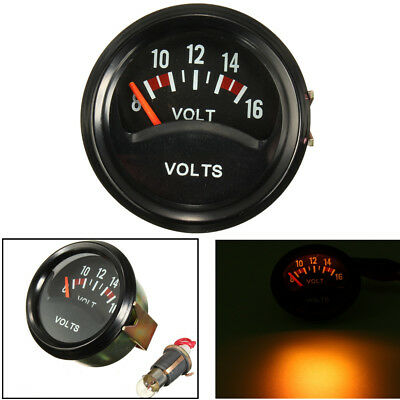 Universel 12V 52mm Gauge Tension Voltmètre Voltage Compteur Manometre Noir Auto