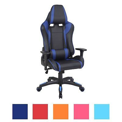 Executive Racing Gaming Computer Office Chair Adjustable Swivel Recline 5 Cols