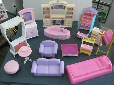 Barbie Doll Furniture Couch Closets Etc. Vintage 2000s Great Lot!