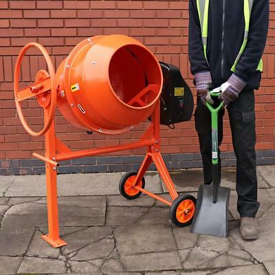 Wido 140L LITRE PRO 240V 650W PORTABLE ELECTRIC CONCRETE CEMENT MIXER MORTAR