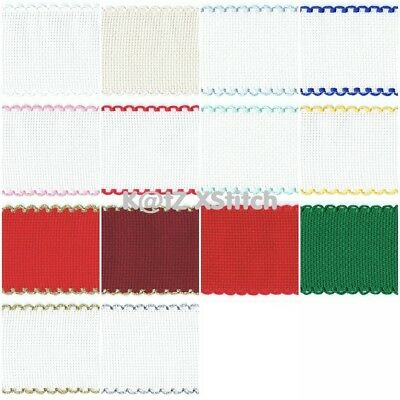 ZWEIGART* AIDA BAND - 2, 3 & 4in Wide, 50cm & 100cm, Various Colours