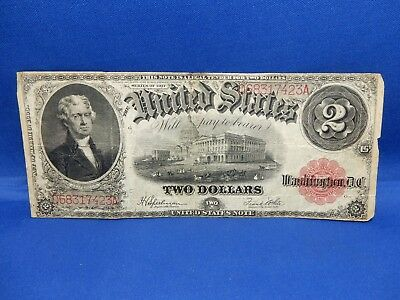 1917 $2 Large United States Note - Very Good