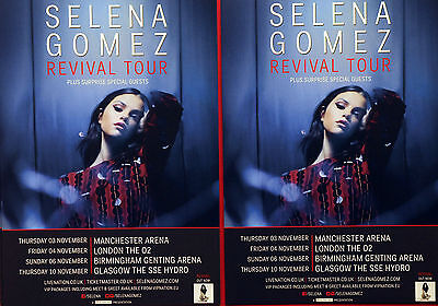 Selena Gomez Revival Tour Flyers  X 2