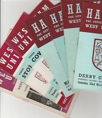 West Ham United Home Programmes 1968 Onwards