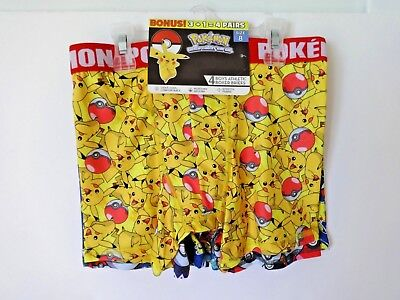 Pokemon Boys Athletic Boxer Briefs Size 8 4 Pack