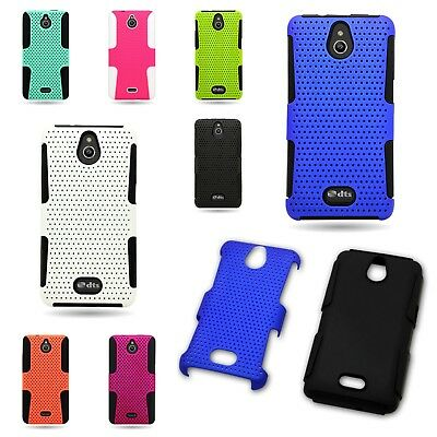 Rugged Hybrid Mesh Shock Proof Phone Cover Case for Huawei Ascend Plus H881C