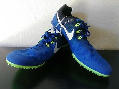 0795bae3044 Blue Nike Zoom Rival M 8 Mens Track Field Running Sprint Spikes Shoes Size  11