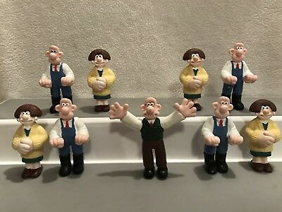 Wallace and Gromit WALLACE and WENDOLENE Mini Figure Couple Misc Lot of 9