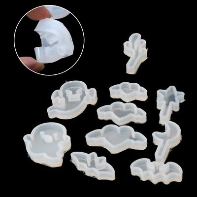 10Pcs Star Moon Ghost Elf Love Pendant Jewelry Silicone Mold Resin Craft Tool