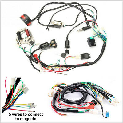 One Set Electric ATV CDI Wire Harness Stator Wiring Kit For 50cc 70cc 90cc 110cc