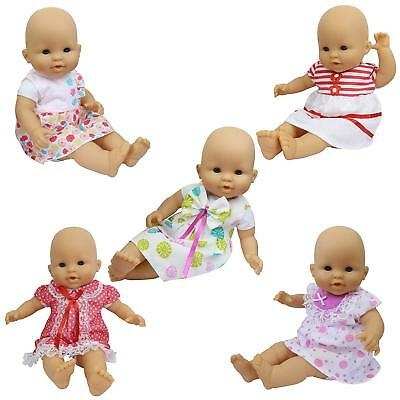5 Sets Handmade Dresses Clothes for Girl Doll 14-16 Inch Alive Doll 18 inch Gift