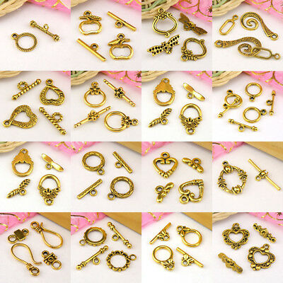Antiqued Gold Toggle Clasps Connectors Necklace Jewelry Making DIY R2004