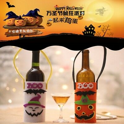 Lovely Wine Bottle Bag Non-Woven Fabric Beautiful Gift Bag Halloween Bar BS