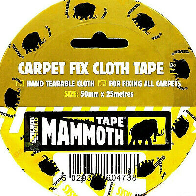 Carpet Cloth Heavy Duty Double Sided Adhesive Tape floor lino rug stick fix Lay