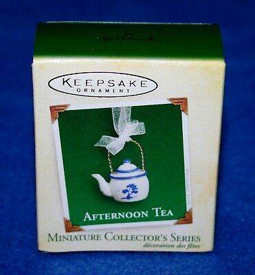 "Hallmark 2005  ""afternoon Tea"" #3 In Series Miniature Keepsake Ornament (Nib)"