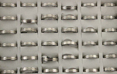 Wholesale Lots 50pcs Men's Fashion Jewelry 4mm Width Stainless Steel Rings