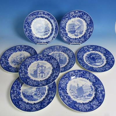 Wedgwood China - 1951 Jordan Marsh Collectors Plate - Set of 8 Series Plates