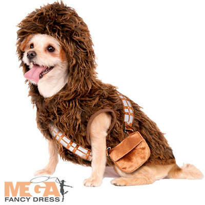 Chewbacca Dog Fancy Dress Star Wars Wookiee Film Animal Puppy Pet Costume Outfit