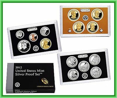 2012 America the Beautiful Quarters 90% Silver Proof US Mint 14 COIN Set ATB