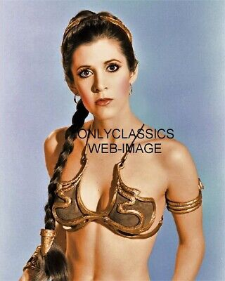 Actress Carrie Fisher Star Wars Princess Leia 8X10 Photo Sexy Pinup Cheesecake