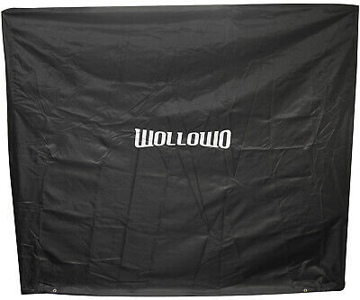 Wollowo Black Full Size Table Tennis/Ping Pong Table Cover Indoor/Outdoor