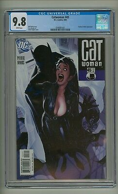 Catwoman 45 (CGC 9.8) White pages; Clayface; Hush; Adam Hughes cover (c#20329)