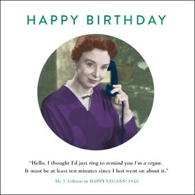Im Vegan Funny Drama Queen Birthday Greeting Card Retro Humour Cards