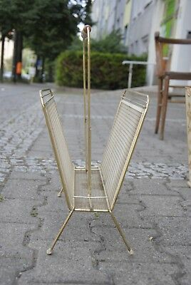 Zeitungsständer Messing glänzend 60er TRUE VINTAGE 60s newspaper holder brass