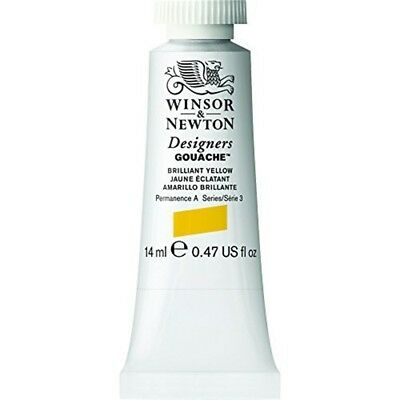 Winsor & Newton Designers Gouache Tube, 14ml, Brilliant Yellow - 14ml Paint