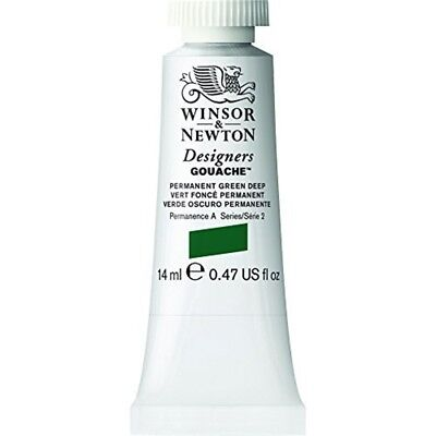 Winsor & Newton Designers Gouache Tube, 14ml, Permanent Green Deep - 14ml Paint