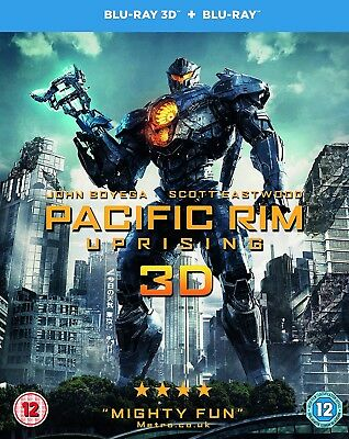 PACIFIC RIM UPRISING (2018) 3D + 2D Blu-Ray BRAND NEW Free Shipping