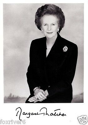 MARGARET THATCHER Signed Photograph - Politician British Prime Minister reprint