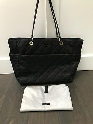 Pre-Owned Kate Spade Black Quilted Diaper Baby Bag Great Condition..Barely used