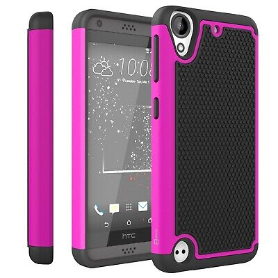 For HTC Desire 530 / Desire 630 Pink & Black Case Protective Shock Proof Cover