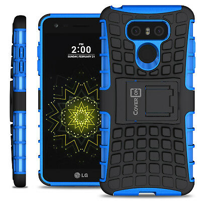 Blue Kickstand Shockproof Case for LG G6 / G6 Plus Hard Phone Cover w/ Stand