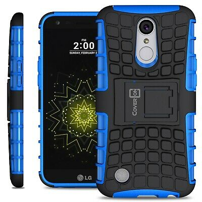Blue Kickstand Case for LG K20 Plus / K20 V / K20V Hard Phone Cover w/ Stand