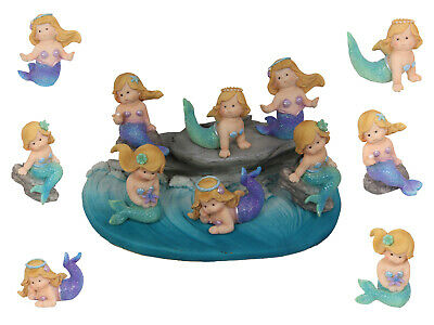 NEW 6pce 7cm Small Baby Mermaid 6 Assorted Complete Set