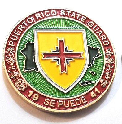 PUERTO RICO STATE GUARD PRSG Army National Guard Challenge Coin TAINO BORICUA