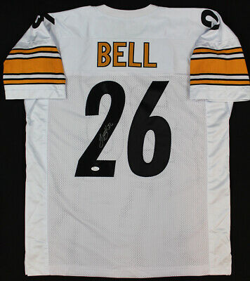 de995a84f LE VEON LEVEON BELL Signed Pittsburgh Steelers  26 White Nike ...