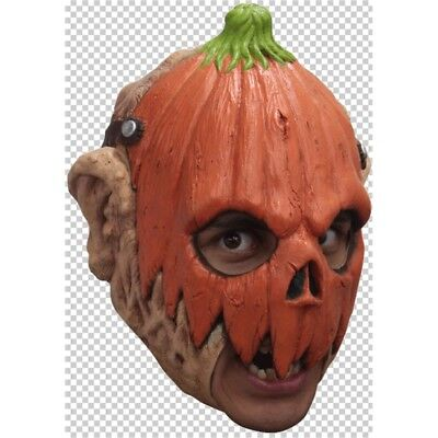 Killer Jack O Laterne Halloween Maske - Mask Pumpkin Head Chinstrap Rubber