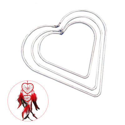5-12cm Metal Welded Heart Hoops Craft Parts DIY Craft Dream Catcher Mobile Ring